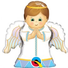 "Angel Boy Foil Balloon (14"" Air-Fill) 1pc"